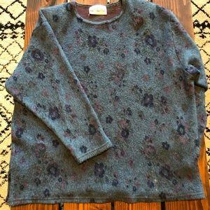 Vintage Sweaters - 「Color Club」Vintage Floral Sweater